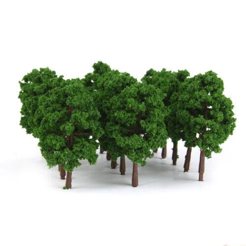 100Pcs Miniatur Kunststoff Modellbäume Landschaftsbau Baum 1:150 Skala HO N