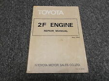 1981 Toyota Land Cruiser FJ40 FJ45 FJ60 2F Engine Service Repair Manual 1982
