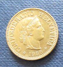 Schweizer Franken 1986 5 Rappen für Sammler aus Umlauf