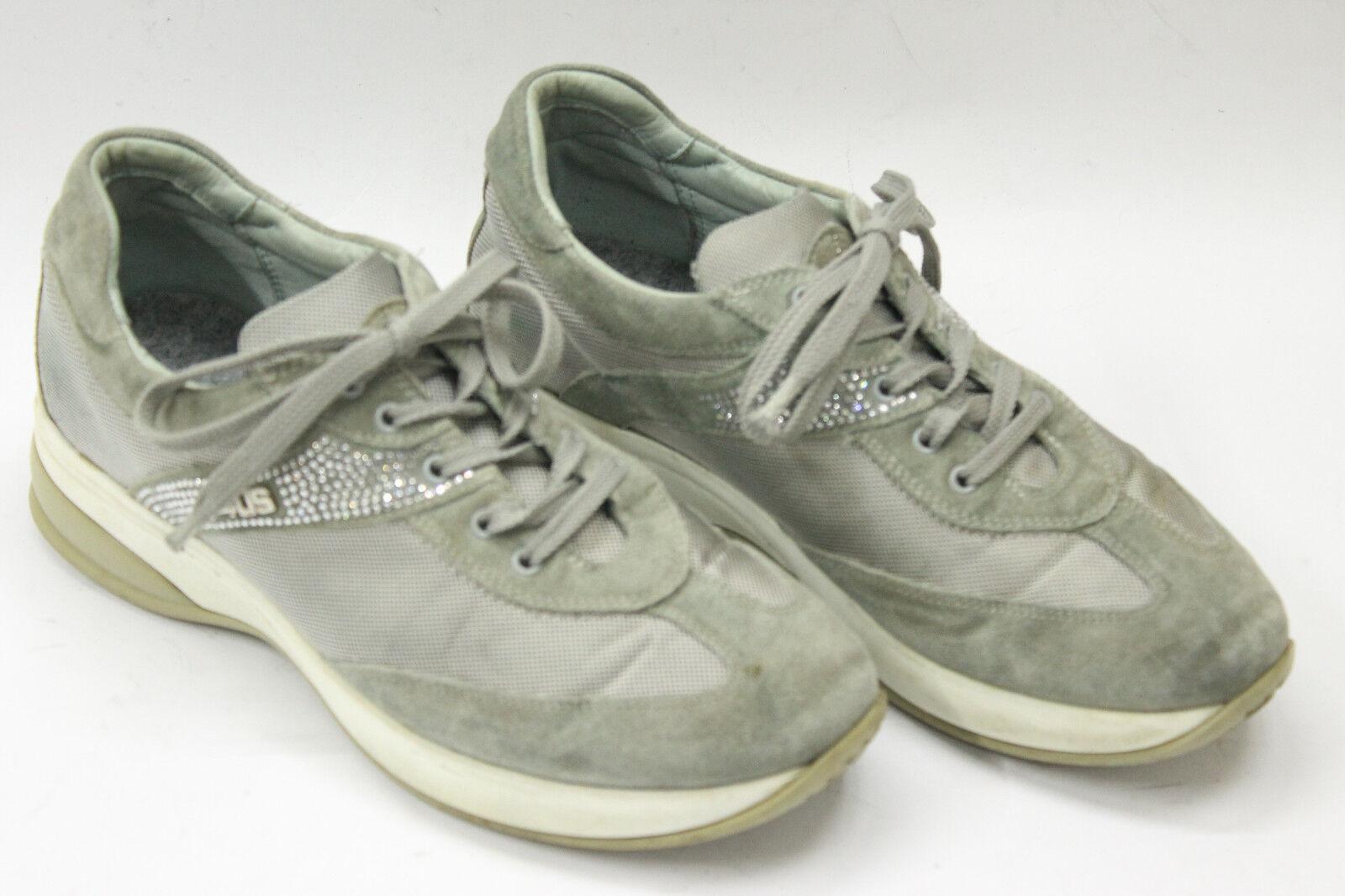 CESARE PACIOTTI Femme  chaussures  sz 6 Europe 36 Gris canvas suede S6932