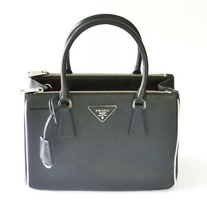 33d037c0bc Image is loading Prada-1BA863-F0N12-Galleria-Saffiano-Lux-Leather -Convertible-