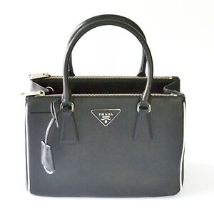 c1787e790fcf Image is loading Prada -1BA863-F0N12-Galleria-Saffiano-Lux-Leather-Convertible-