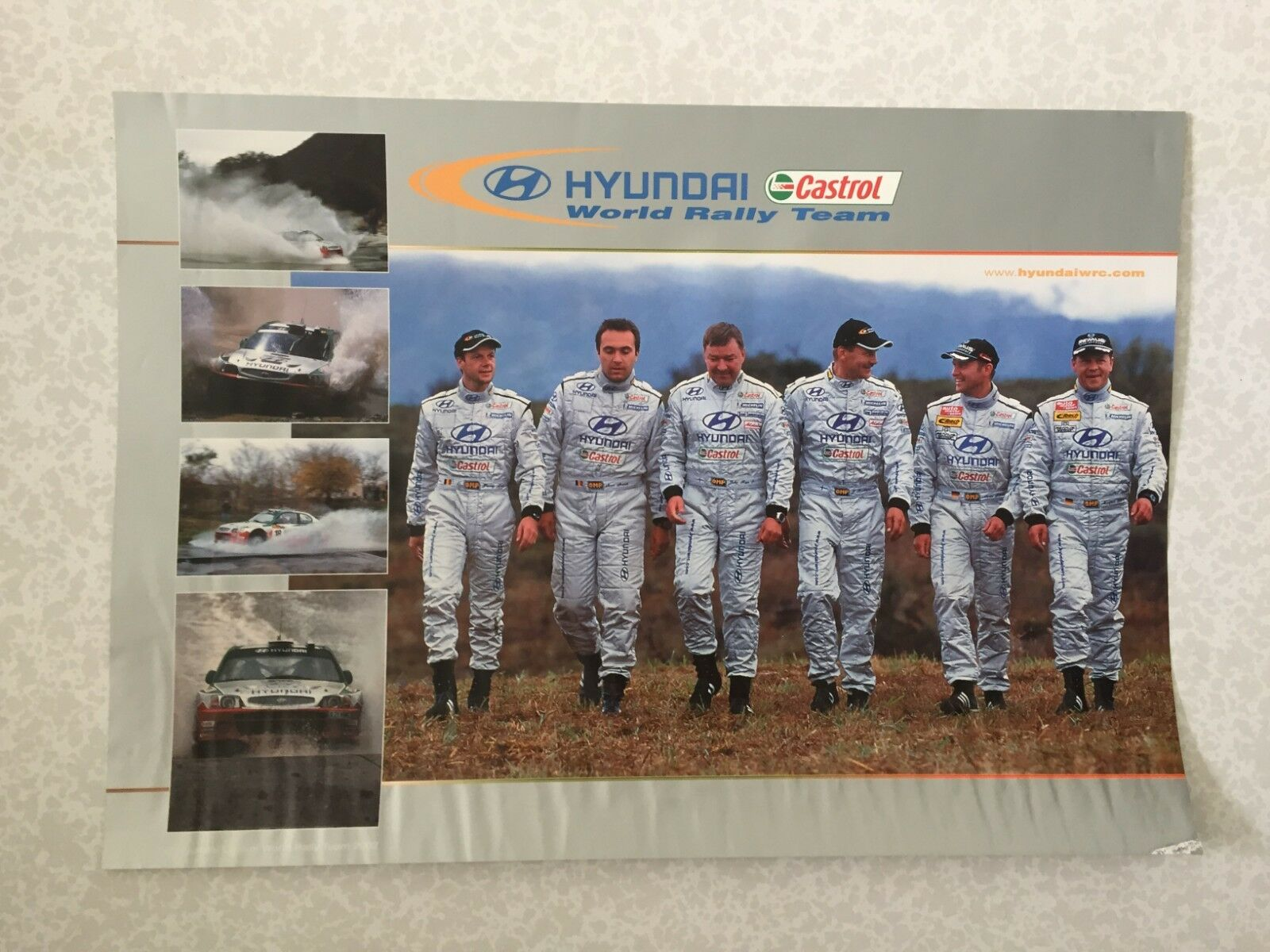 POSTER HYUNDAI CASTROL WORLD 2002 RALLY TEAM 2002 WORLD WRC RALLYE fa0ce8