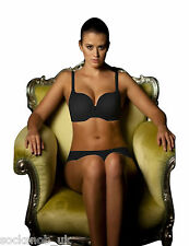 New Ladies Ultimo Plunge Cleavage Enhancing Underwired Black Bra 34DD
