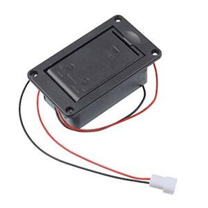 Aktiver-Bass-Gitarren-Pickup-9V-Batterie-Kasten-Halterung-Gehaeuse-Fach-Abde-D4E2