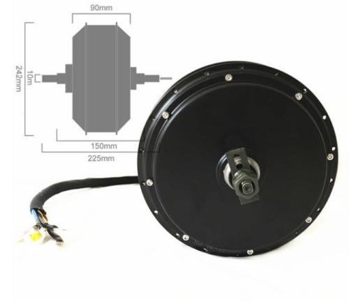强大的 48-72v 3000-5000w 3.5t 5t 集线器 QS 电机电动自行车