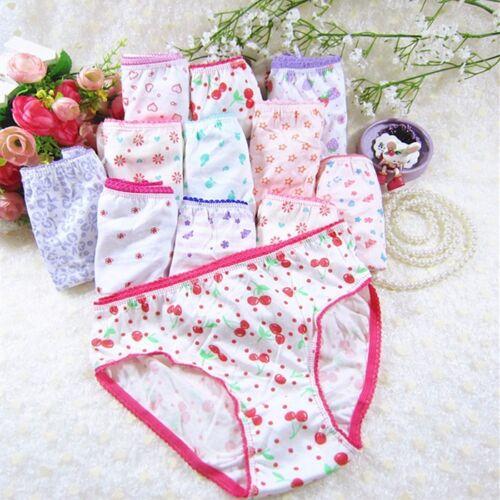 10pcs//lot 100/% cotton girl underwear kid baby panties children/'s lace underpants