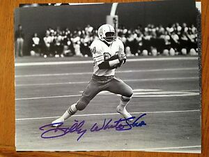 Billy white shoes johnson autographed houston oilers 8x10 for Joy gift and jewelry sydney ns