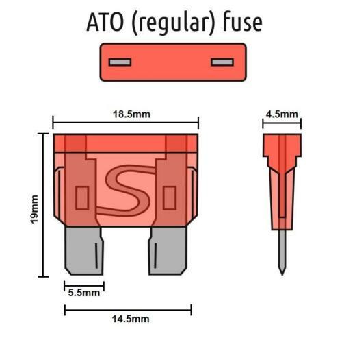 Voiture électrique Rechange 10x Standard lame fusibles 3 AMP pour composants électriques