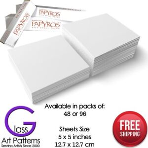 Spectrum-Papyros-Kiln-Shelf-Paper-5-x-5-inch-packs-of-48-or-96-Fusing-Supplies