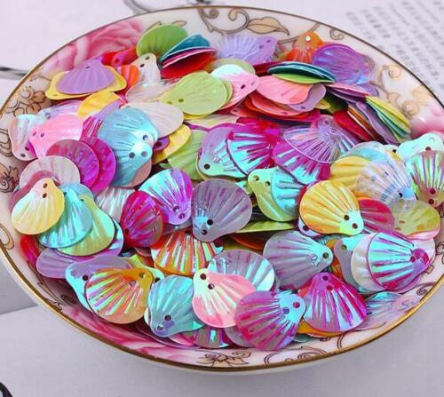 DIY 600X Mixed Shell shape Sequin 2-Holes Sewing clothing decoration Handicrafts