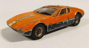 Corgi-Toys-Mangusta-Orange-Car-Detachable-De-Tomaso-Chassis-1969-Vintage-Metal