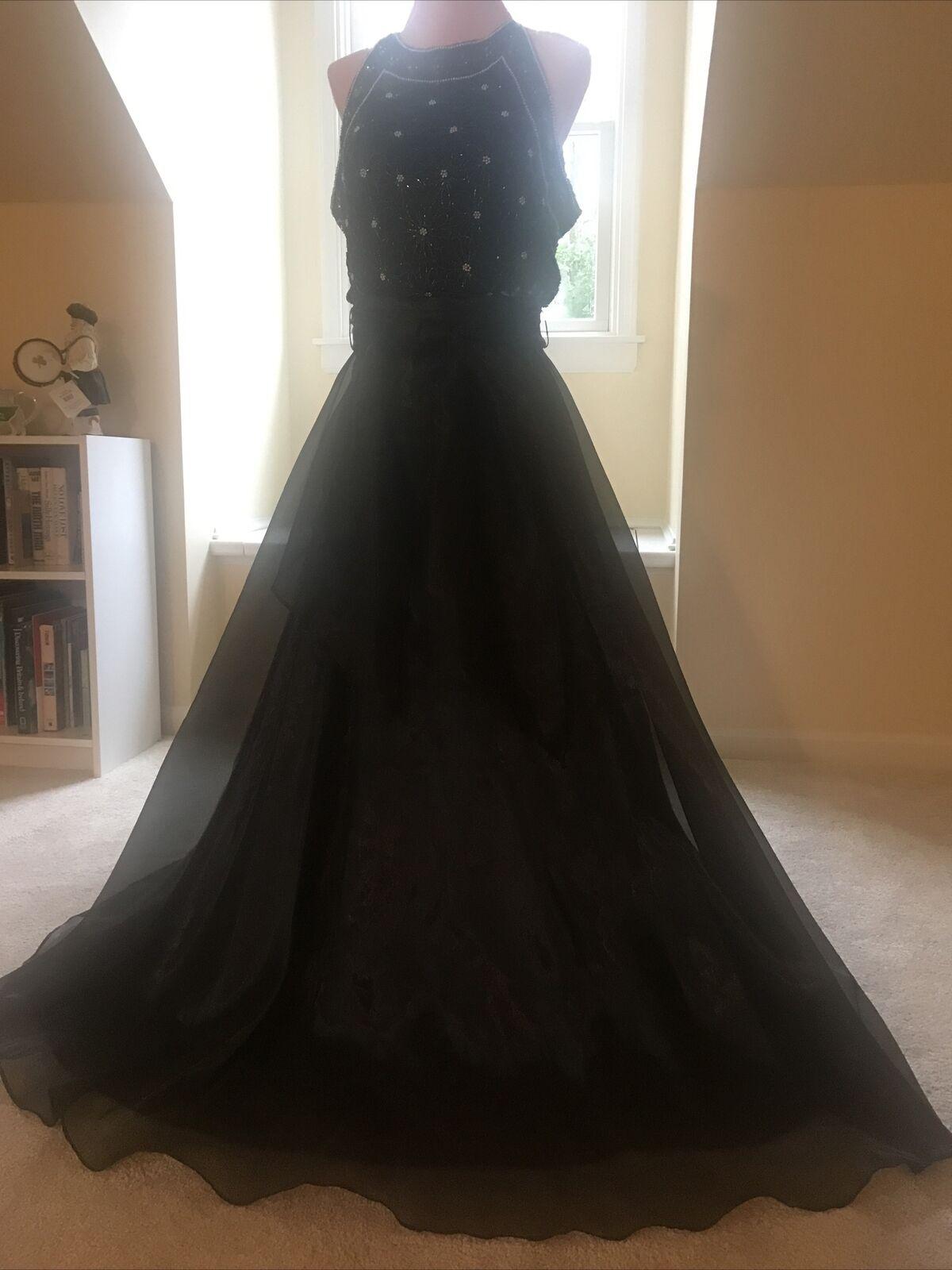 JS Collection Women Black Formal Skirt Size 8