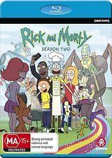 RICK AND MORTY - SEASON 2    Blu Ray - Sealed Region B (& UK compatible)
