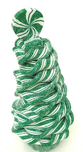 Ribbon Candy Christmas Tree White And Green Changes Colors
