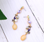 Betsey-Johnson-Earrings-Dangle-Drop-Purple-Enamel-Fish-Koi-Rhinestones-NEW thumbnail 1