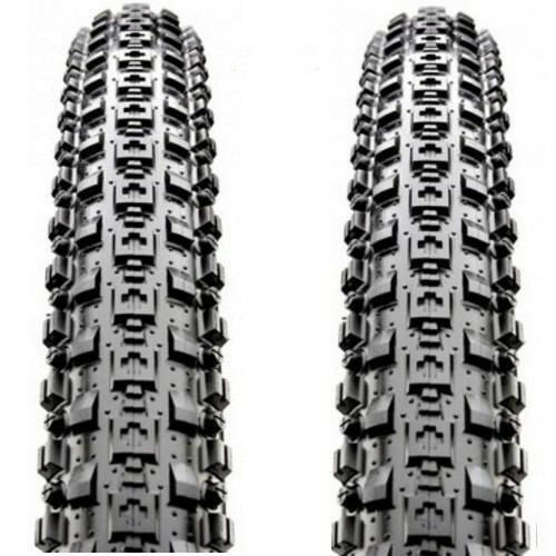 "2PCS Maxxis Crossmark MTB Tyres 26 x 2.10/"" Black Mountain Bike Tires 1 PAIR"