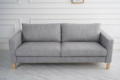 Match Isunda Gray Color Cover Handmade Cover fits IKEA Karlstad Sofa series