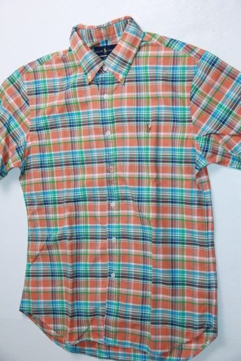 Ralph Lauren POLO  Slim FIT SHORT SLEEVE Small Pony Shirt Orange  Small S