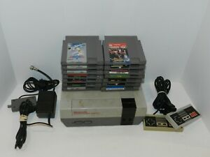 Nintendo-NES-Gray-System-Console-Complete-w-14-Games-Untested-Retro