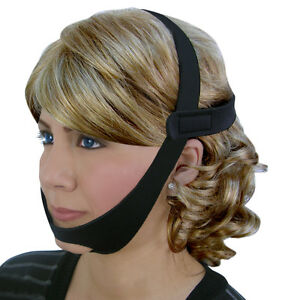 CPAP-Chin-Restraint-Chin-Strap-Black-Support-for-CPAP-Sleep-Apnea-NEW