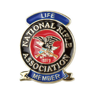 Nra Pride Jumbo Color Life Membership Pin National Rifle