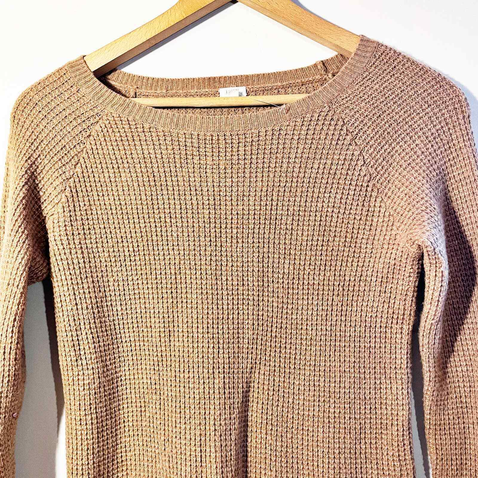 J.Crew Waffle Knit Textured Sweater Small - image 4