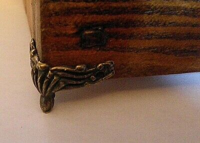 Pack of 4 Small Metal shell drawer pull handles antique silver finish C058