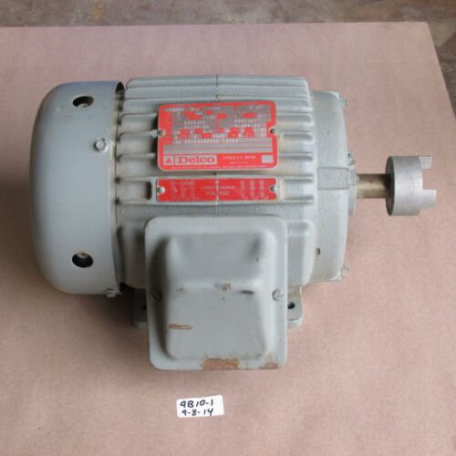 NEW DELCO// ELECTRIC MOTOR 1T5727 S1A   1 HP FR 145T  230//460V  RPM 1145