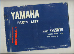 Yamaha-XS650-1979-gt-gt-Factory-Parts-List-Catalogue-Book-Manual-XS-650-1U3-BR76