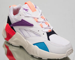 Details about Reebok Classic Aztrek Double Mix Pops Womens White Lifestyle Sneakers DV8171