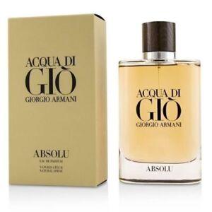 Details About Acqua Di Gio Absolu Original Armani For Man 42oz 125ml Eau De Parfum