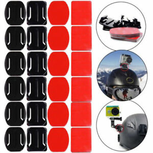 12Pcs 3M Adhesive Sticky Pads Flat & Curved Mount For Gopro Hero 2 3 3+ 4 Hot