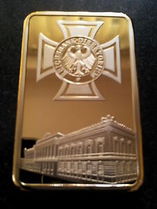 REICHSBANK DIREKTORIUM IRON CROSS Deutsche Coin Eagle Gold German Bank Bar - <span itemprop=availableAtOrFrom>UK Cardiff, United Kingdom</span> - Returns accepted - UK Cardiff, United Kingdom