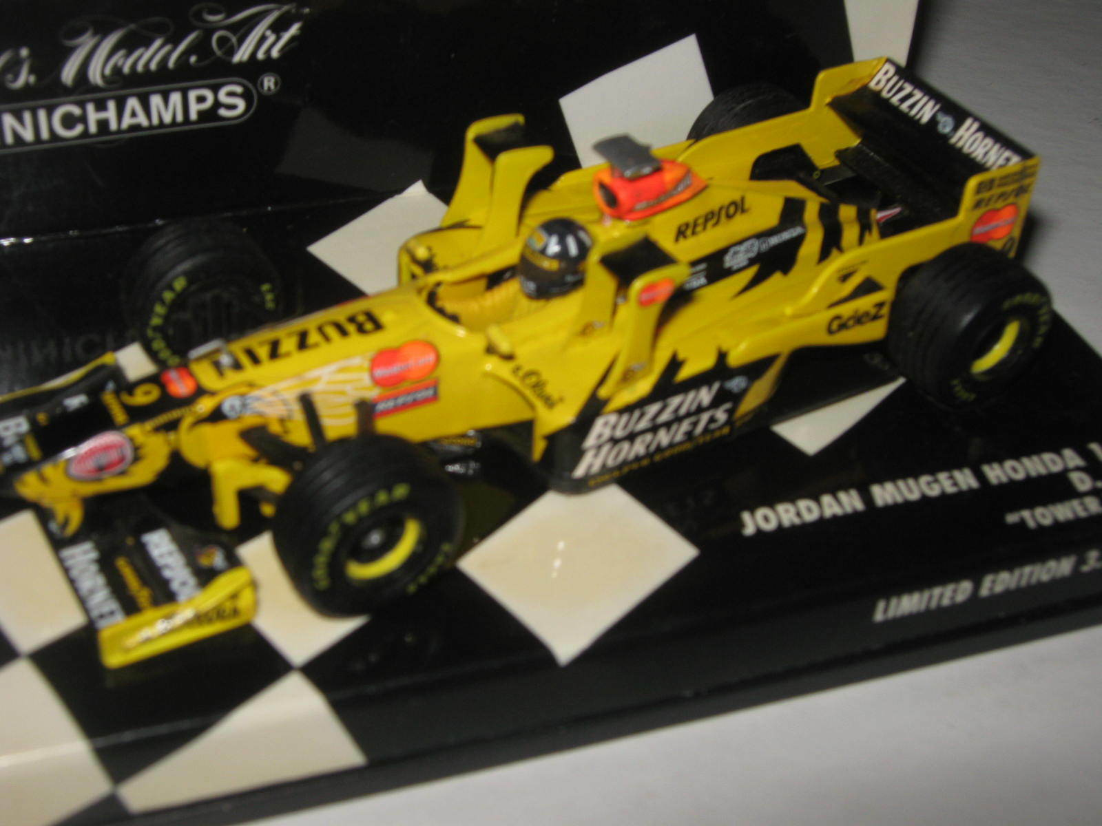 1 43 Jordan Honda 198 Towerwings D. Hill 1998 430980039 MINICHAMPS OVP new