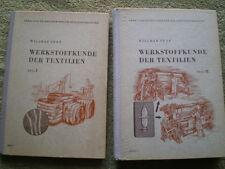 DDR Bücher Webstuhl Spinnmaschinen Baumwolle - Werkstoffkunde der Textilien 1+2