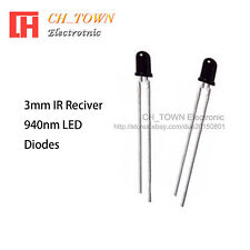 100pcs 3mm Ir Receiver Led Diodes Water Clear Infrared Receiving 940nm Lamp Usa