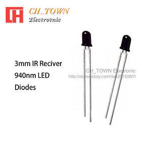 50Pcs 3mm 940nm IR infrared LED Lamp
