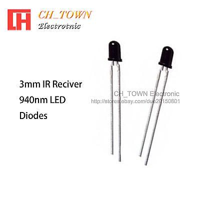 500pcs 3mm IR infrared LED 940nm Lamp High Power GOOD QUALITY