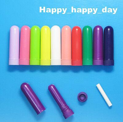 1000-10 sets Blank Nasal Inhaler Essential Oil Aromatherapy Diffuser