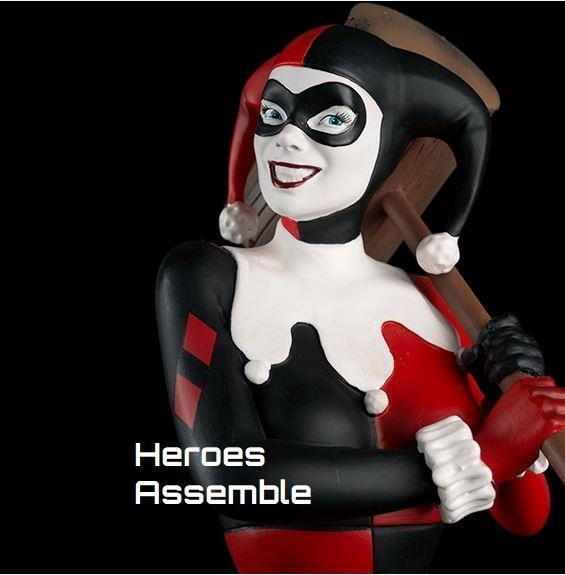 DC FIGURINE COLLECTION MEGA HARLEY QUINN STATUE BUST 33CM EAGLEMOSS NEW BATMAN
