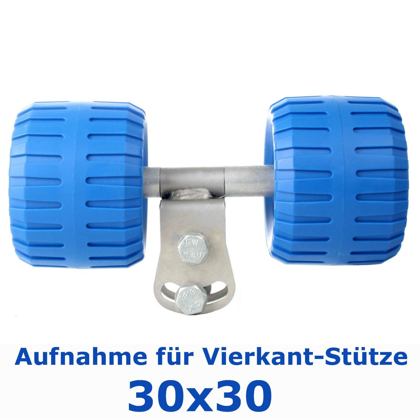 ⚓ Seitenrolle mit Adapter ➔ Wobblerolle blau, blau, blau, Ø100 - spurfrei  | Sliphilfe 13827e