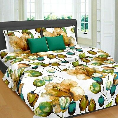 Cortina 100% COTTON DOUBLE BED SHEET WITH TWO PILLOW COVER