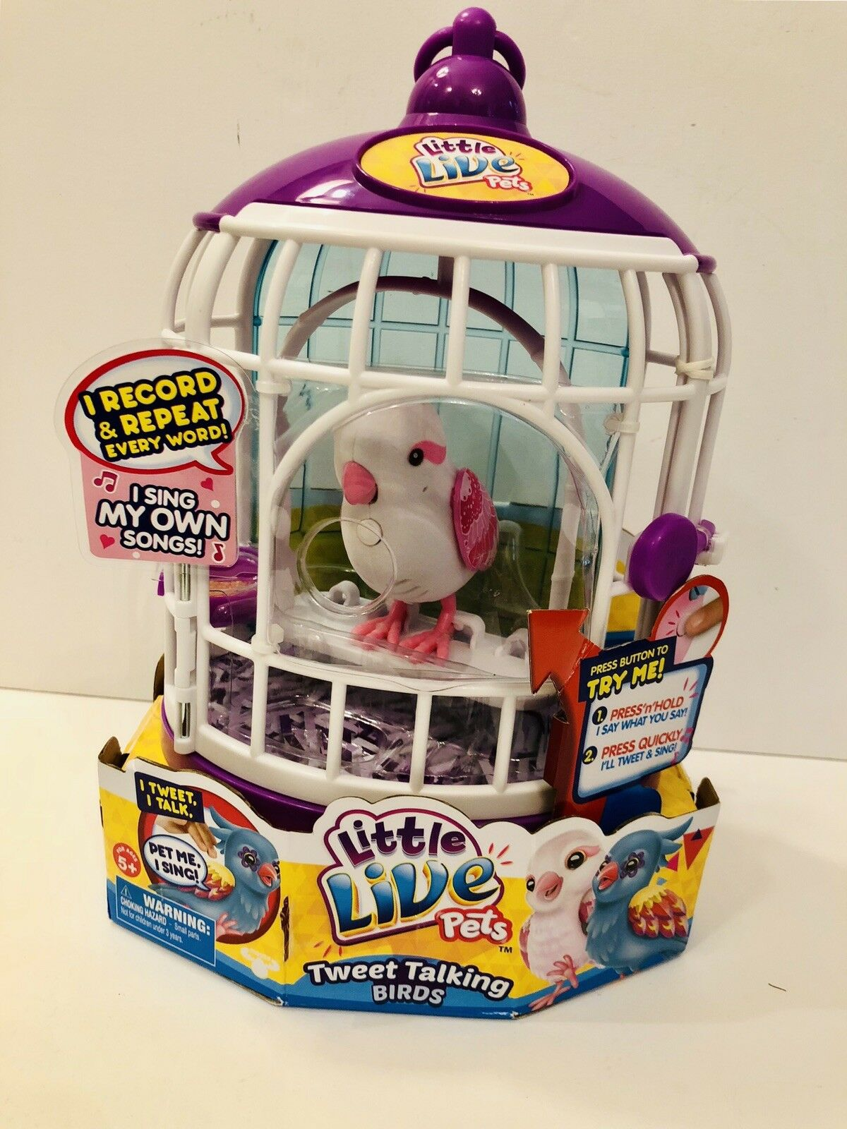 NEW   Little Live Pets Talking Bird Singalong SWEET HARMONY w  Cage Original
