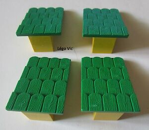 Lego Fabuland 787 x 2 Tuile Roof Support with Green Roof Slope 3670 3654 F20