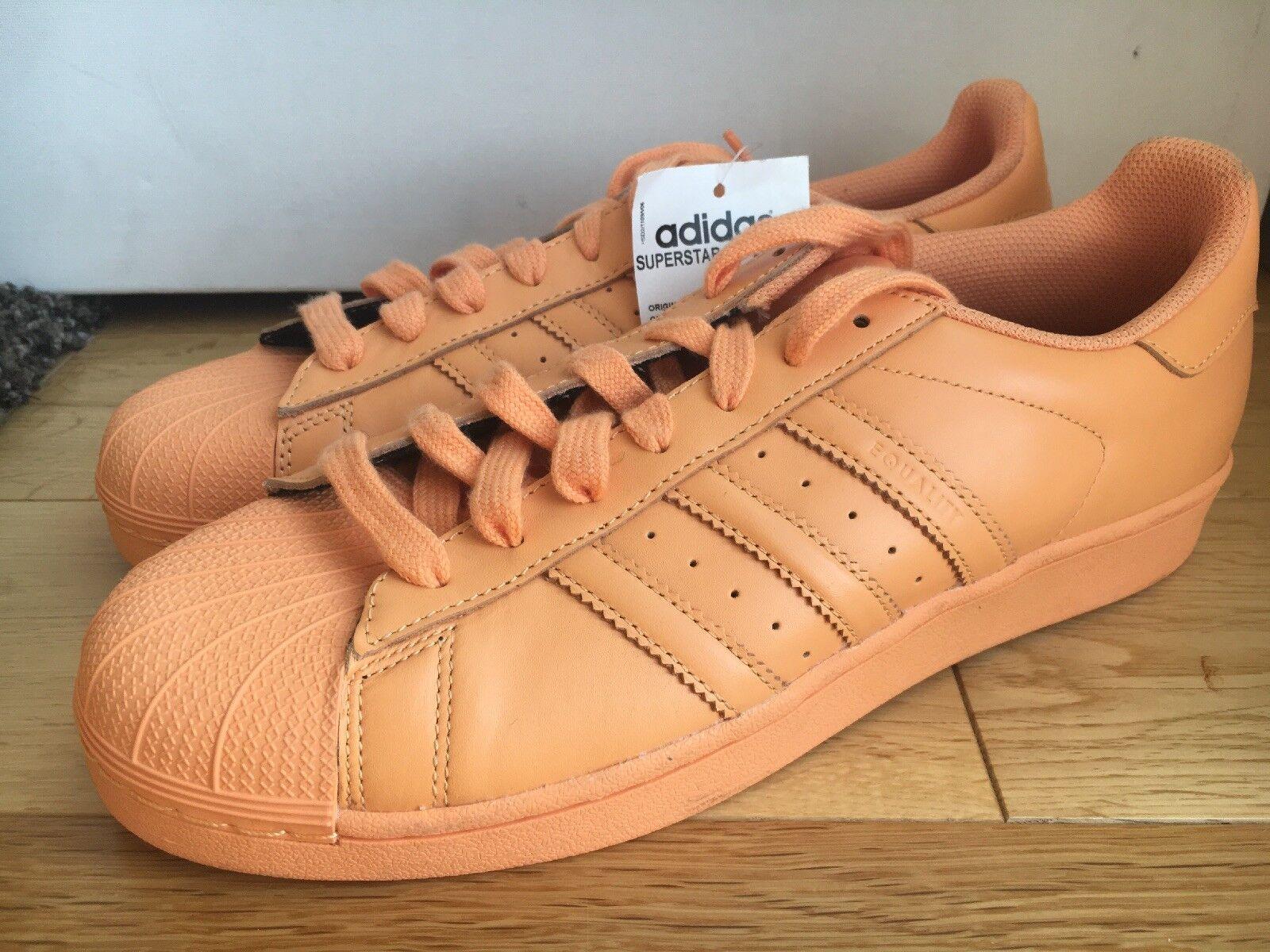 Adidas Superstar Pharrell Williams UK 9    Pride Light orange  color
