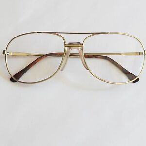eed67b47ecc4 Bifocal Aviator Large Men's Reading Glasses Gold Metal Frame +1.25 ...