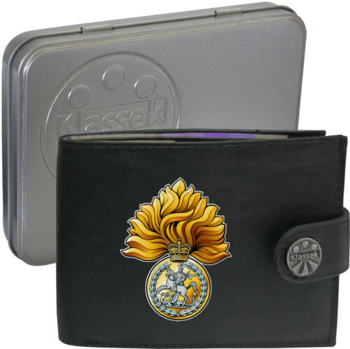 The Royal Regiment of Fusiliers Army on Mens Wallet Real Leather RFID Chain