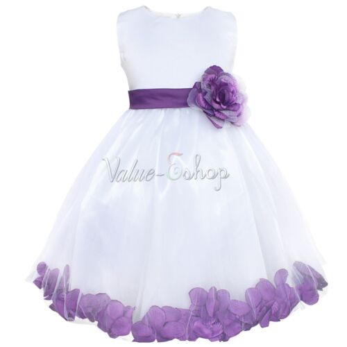 Flower Girl Dress Bowknot Party Princess Pageant Bridesmaid Wedding Tutu Dress