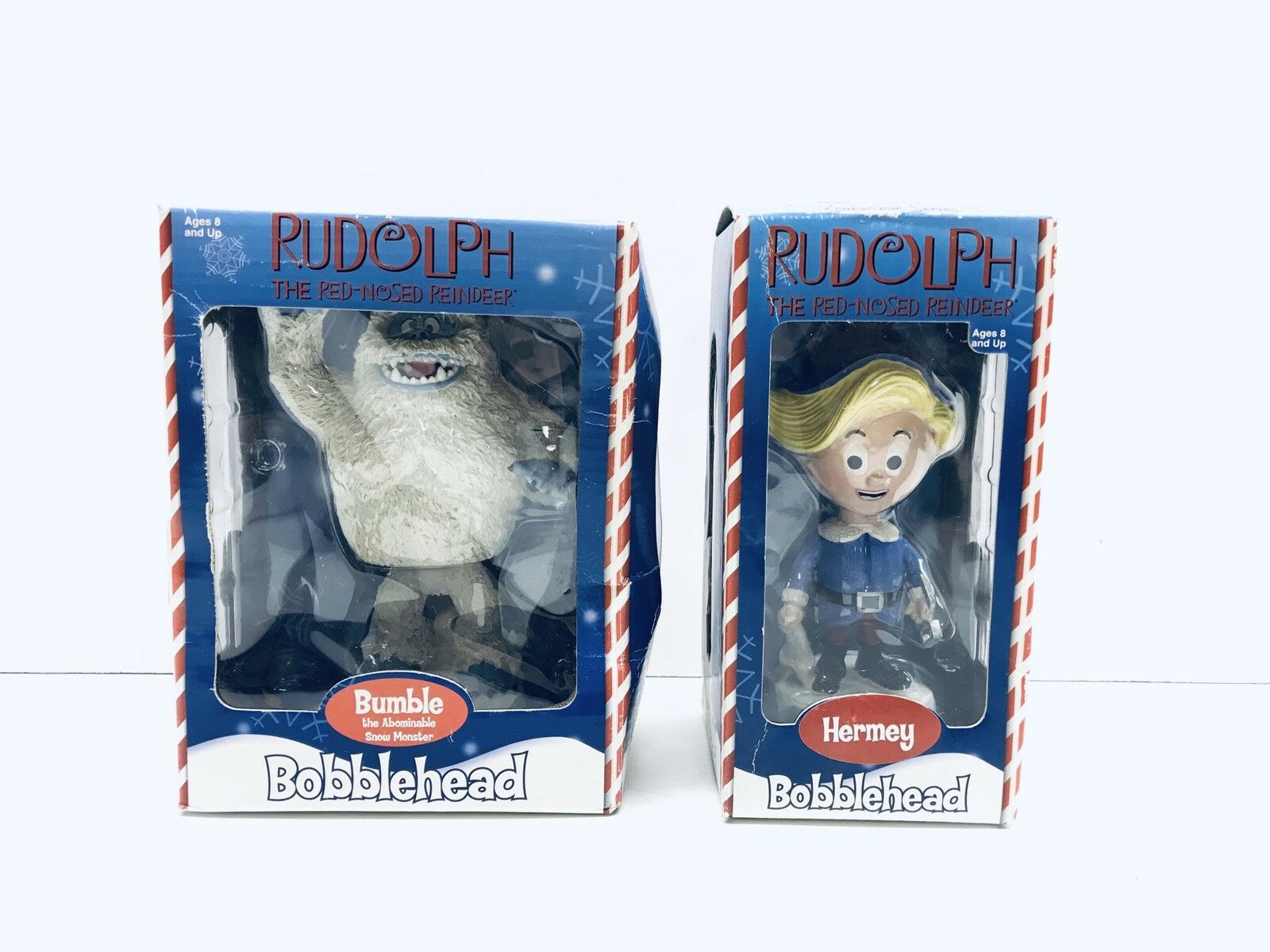 Rudolph The ROT Nosed Reindeer Bobblehead Lot Of 2 Hermey & Bumble Sealed